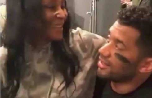 Shocking Images Of Ciara's Best Friend Yolanda Sitting On Husband Russell Wilson's Lap