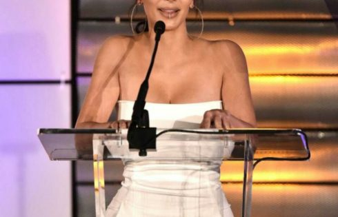 Kim Kardashian Shared A 'naked selfie' From Bed After Showcasing Her Famous Curves At Glitzy Awards Ceremony