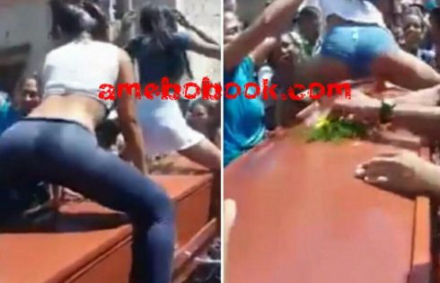 Two Women Have Sparked Outrage After They Were Filmed Twerking In Wet T-shirts Over Their Friend's Coffin