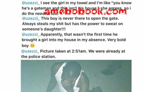 Lady Comes Home Only To Catch Her Gateman Sleeping With A Woman On Her Bed In Abuja
