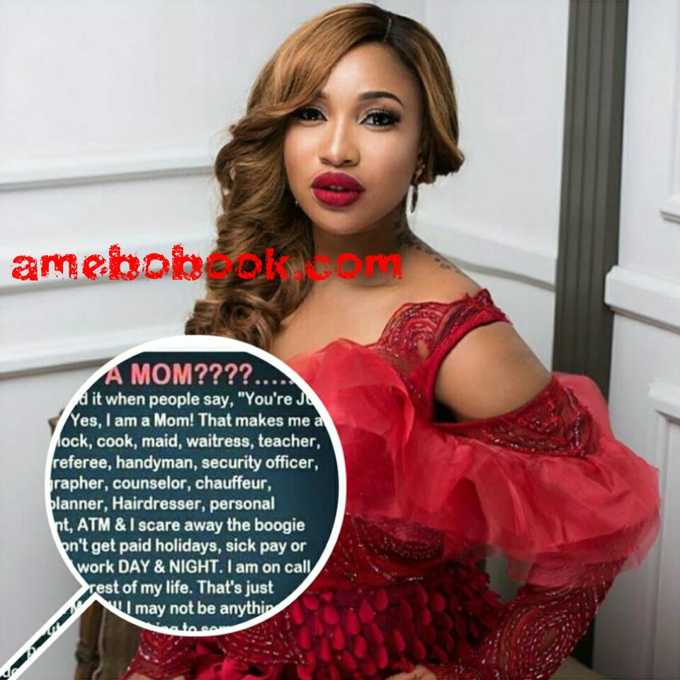 """Tonto Dikeh Has Taken To Instagram To Say She Can't Stand It When People Say, """"You're JUST a mom?"""""""