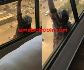 Kuwaiti Woman Films Her House Maid Commiting Suicide And Hanging For Life Instead Of Helping Her