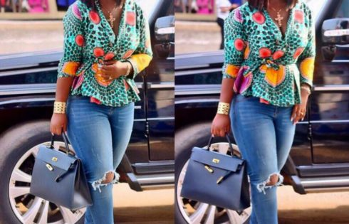 Jackie Appiah Slayed In This Blue Ripped Jeans