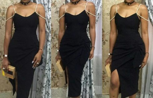Ebube Nwagbo Bares Her Shoulders In A Stunning Dress