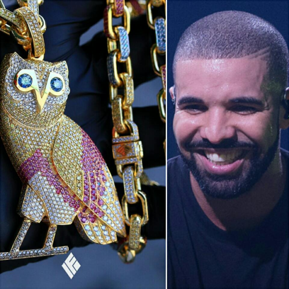 Drake Just Bought A New $120k OVO Owl On Hermes Link Chain