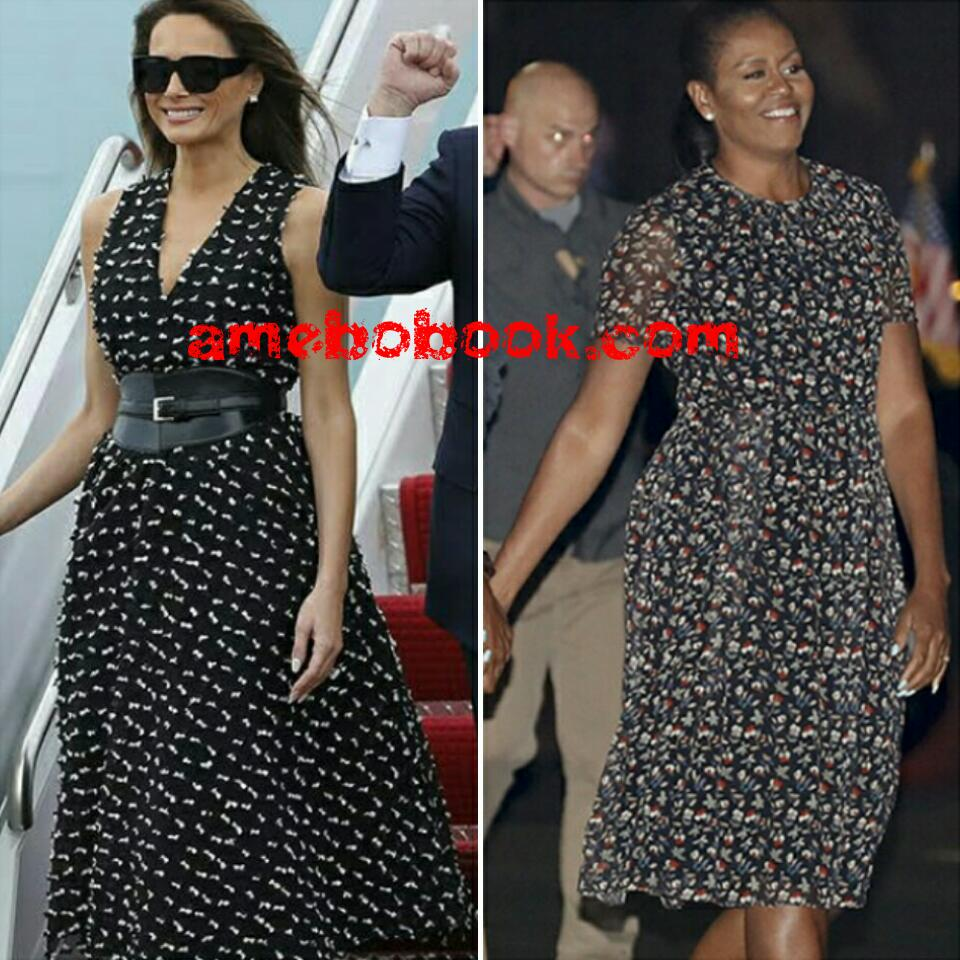 95f2b679857 Who Wore It Better  Melania Trump Channels Michelle Obama In Sleeveless