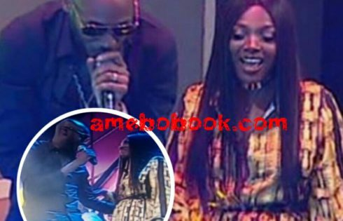 Annie Idibia Looked Pregnant With 3rd Child On Stage While Tuface Performed