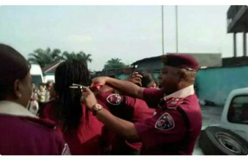 Nigerians Have Reacted On Social Media About The FRSC Commander Who Chopped Off Female Officer's Hair