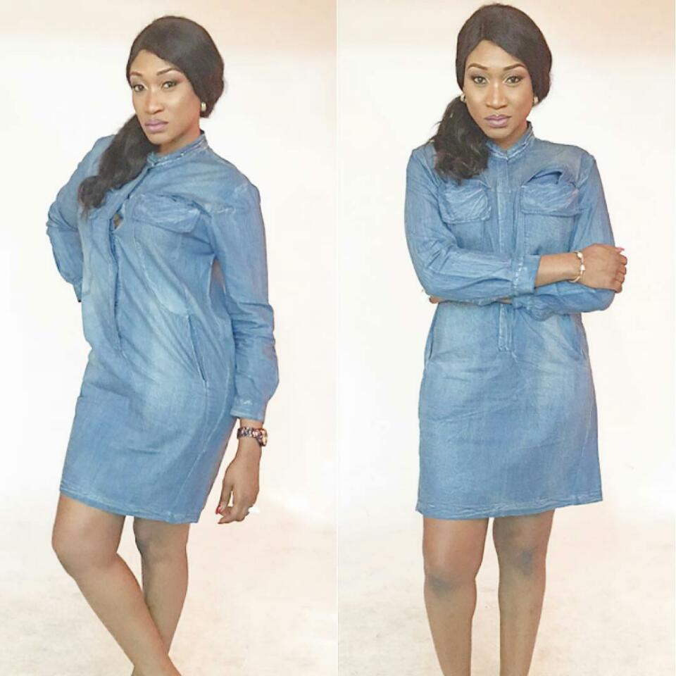 Oge Okoye Is Slay Queen In Denim Dress Shirt