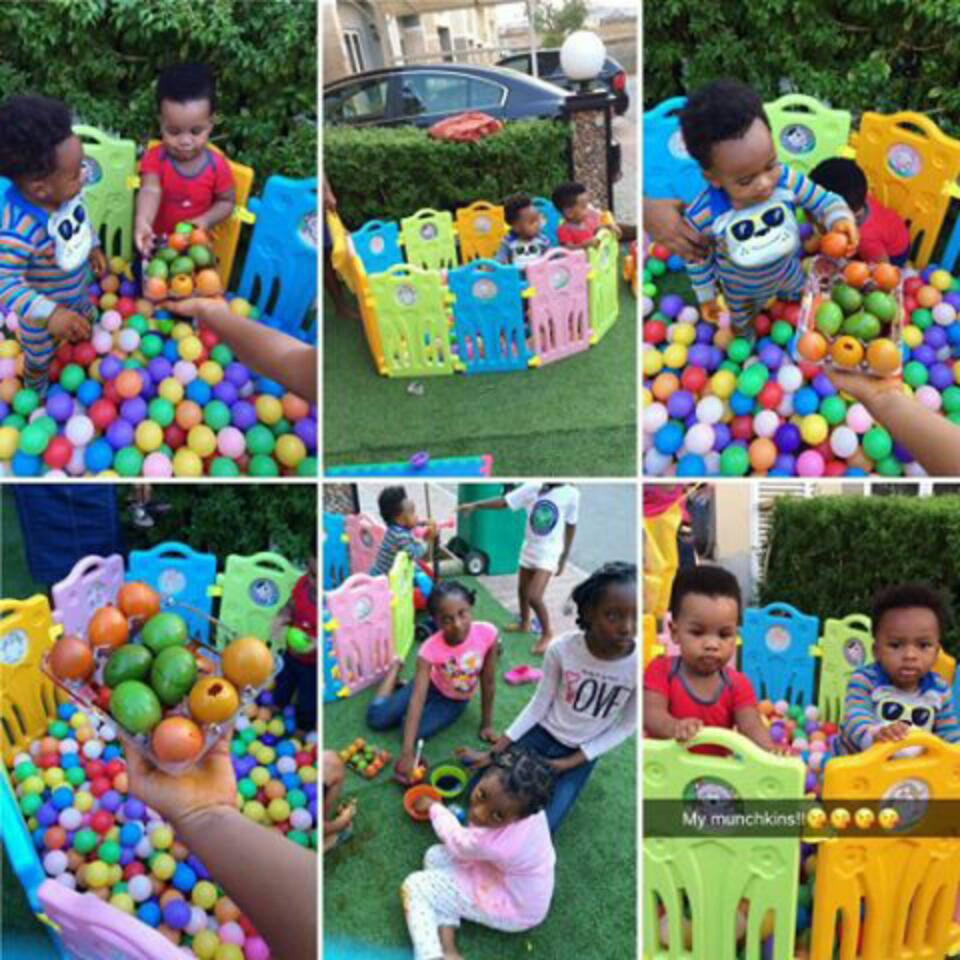 Tonto Dikeh And Her Son Making Easter Eggs