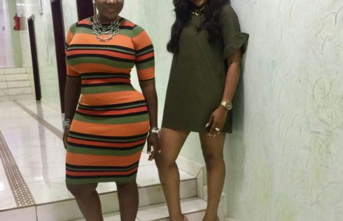 Mercy Johnson And Ebube Nwagbo Pose Together At The Glo Mega Music Tour 2017