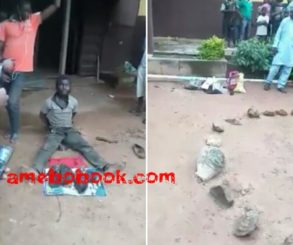 Man Vigilante Members Caught With Roasted Human Parts At Adeola, Ijebu Ode, Ogun State
