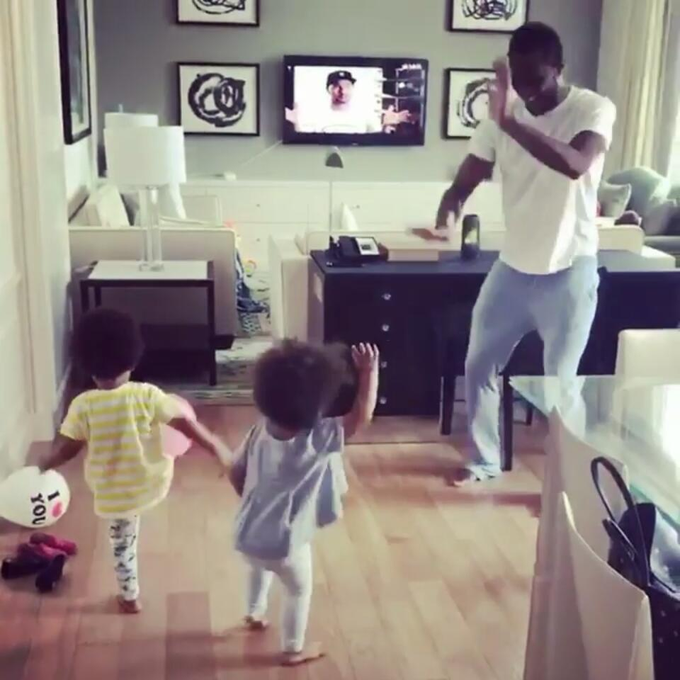 Mikel Obi And His Twin Daughters Dance