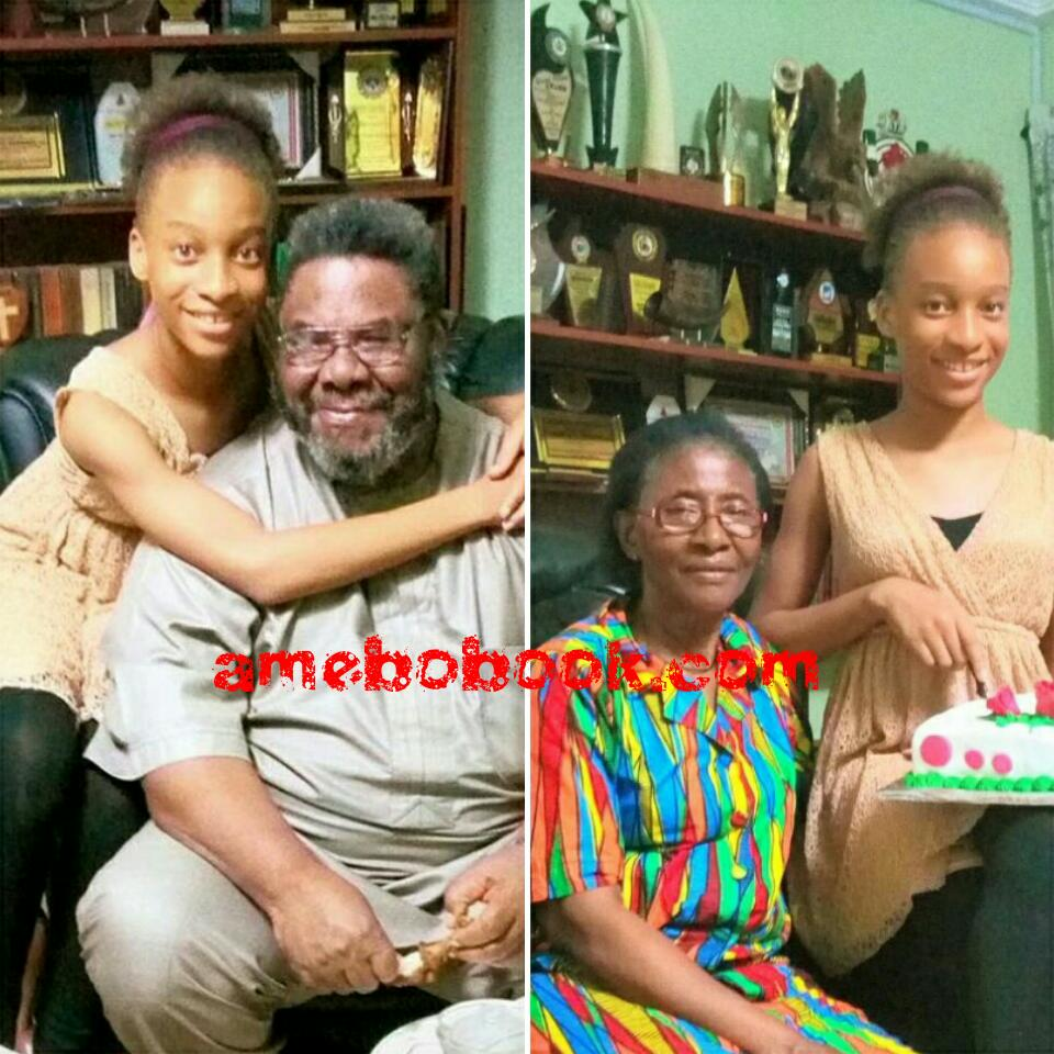 Yul Edochie Shares Adorable Family Photos Of His Daughter With His Father Pete Edochie And His Mum Josephine