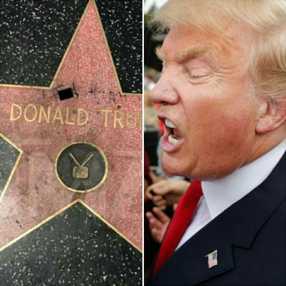 Domald Trump Star On The Hollywood Walk of Fame Has Been Vandalized Again With Marker To Read F*** Trump
