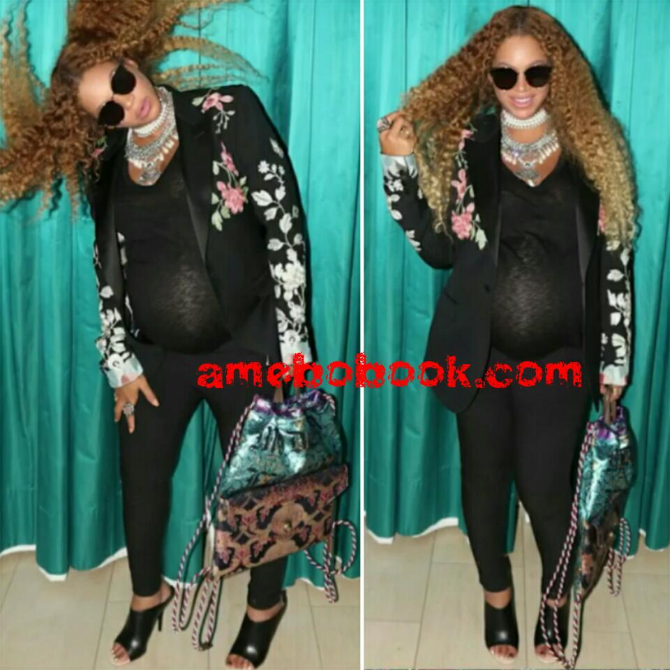 Beyonce And Her Baby Bump Are Having So Much Fun