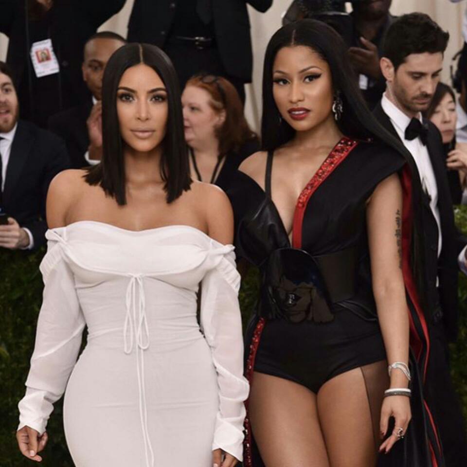 Nicki Minaj Met Up With Kim Kardashian At 2017 Met Gala