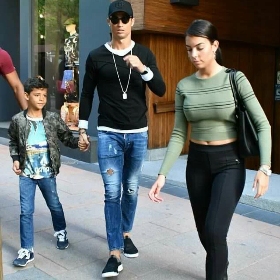 Cristiano Ronaldo Goes Shirtless While Girlfriend Georgina Rodriguez Slays In Thong While At Luxury Resort In Ibiza