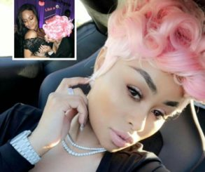 Blac Chyna Rocks Pink Wig While Flaunting Tiny Waist At Pal Nicole Williams' Wedding