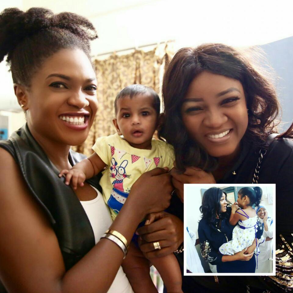 Omotola Jalade-Ekeinde And Omoni Oboli Visited Mother Teresa Orphanage Home In India