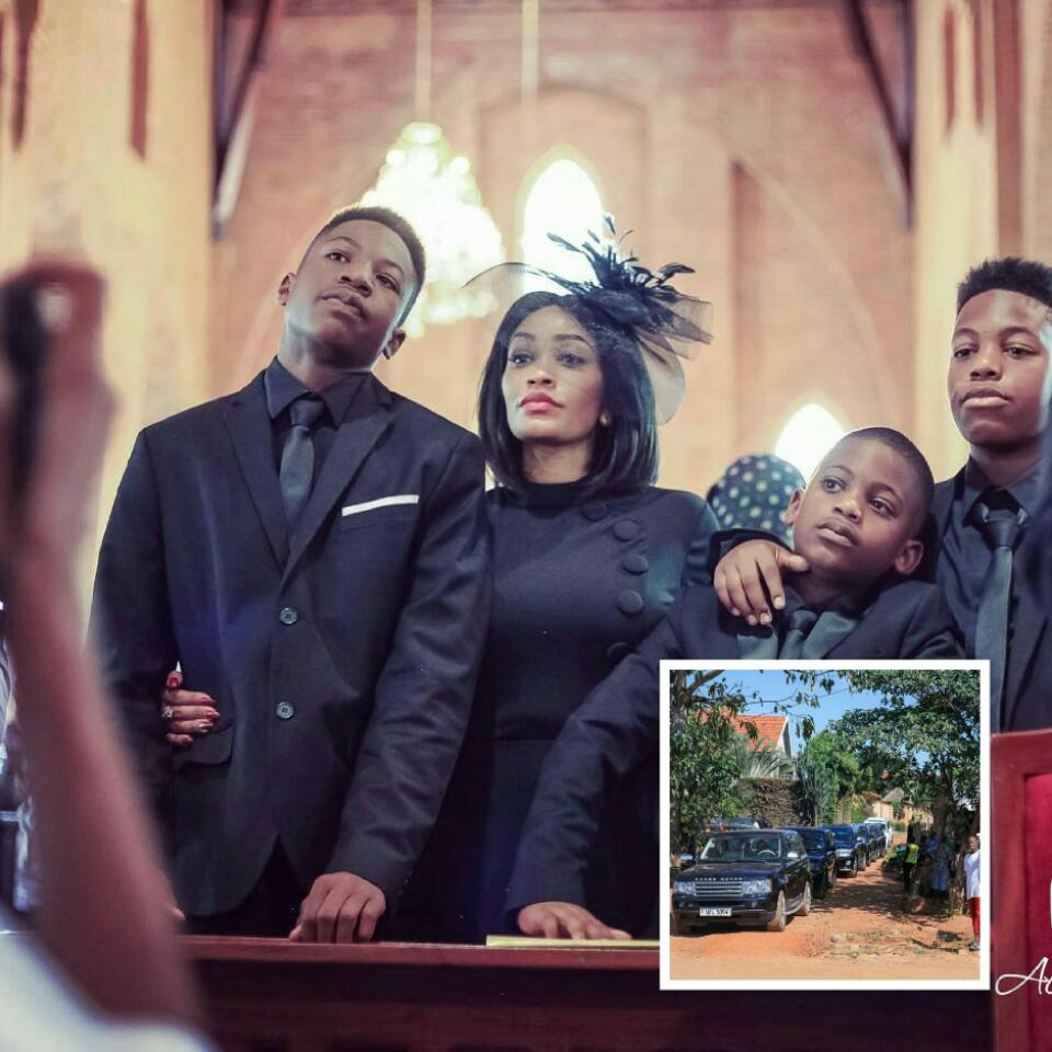Zari Hassan Attended The Memorial Service Of Her Ex-Husband Ivan Don Semwanga With Her Sons