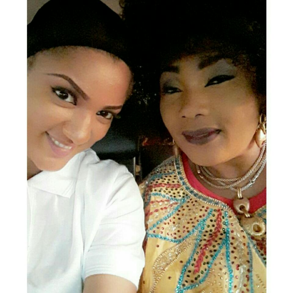 Gifty Powers Pictured With Veteran Nollywood Actress Eucharia Anunobi On Set Of New Movie In Abuja