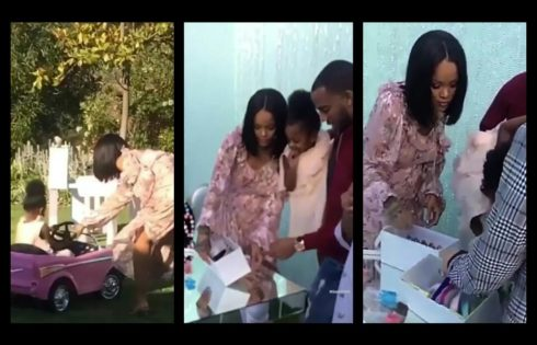 Rihanna Was Spotted Having A Blast At Her Niece's Party
