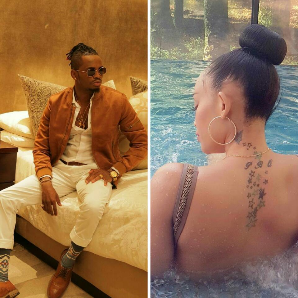 Diamond Platnumz Has Called Out His Baby Mama Zari Over Photo Of Another Man's Hand On Her Butt In The Pool