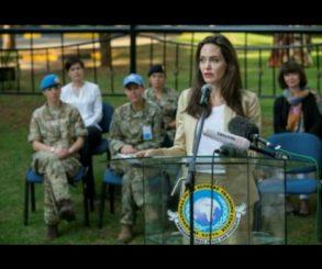 Angelina Jolie Visited Refugee Girls In Kenya