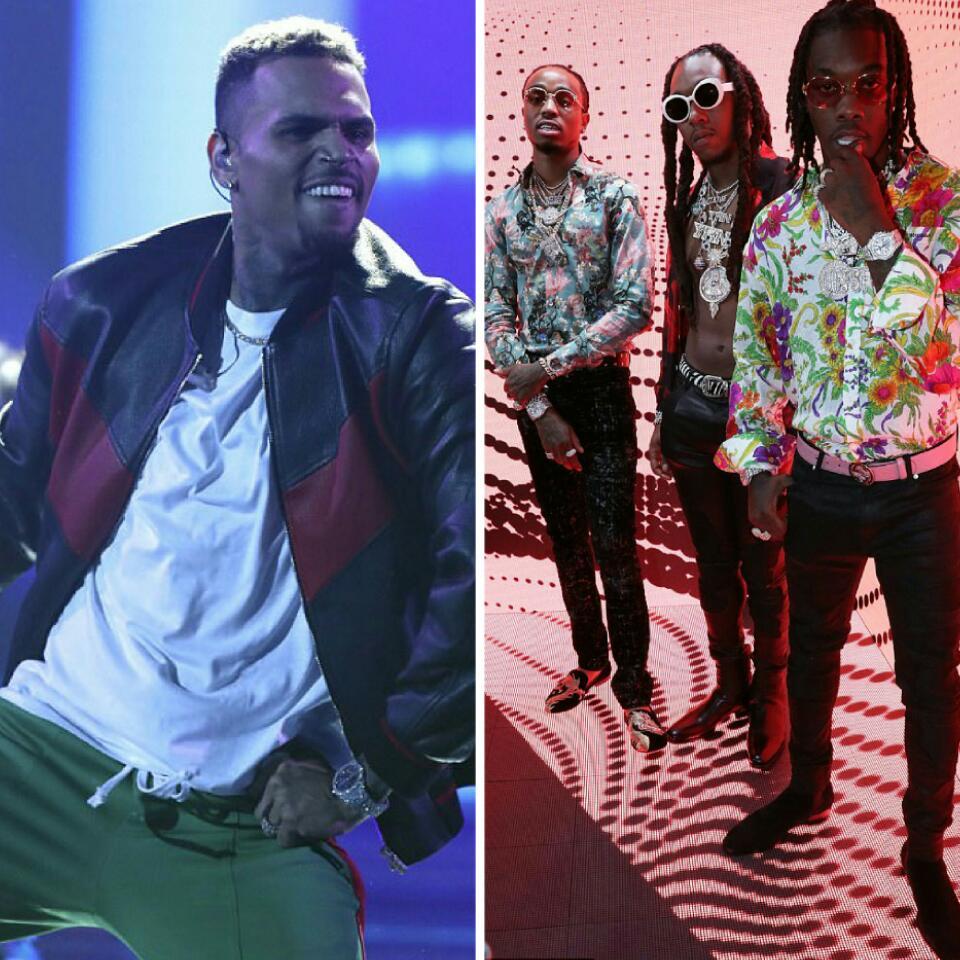 Chris Brown And Karrueche's Boyfriend Quavo Got Into A Fight After 2017 BET Awards