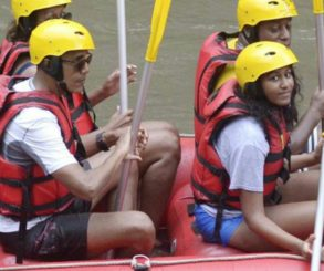 Obama Family River Rafting In Bali
