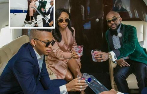 Banky W And Tekno Chilling On Private