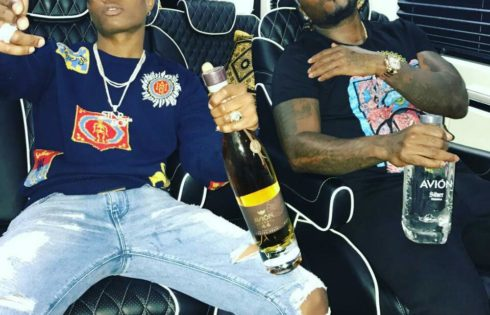 Wizkid And American Rapper Young Jeezy Pictured Chilling Together