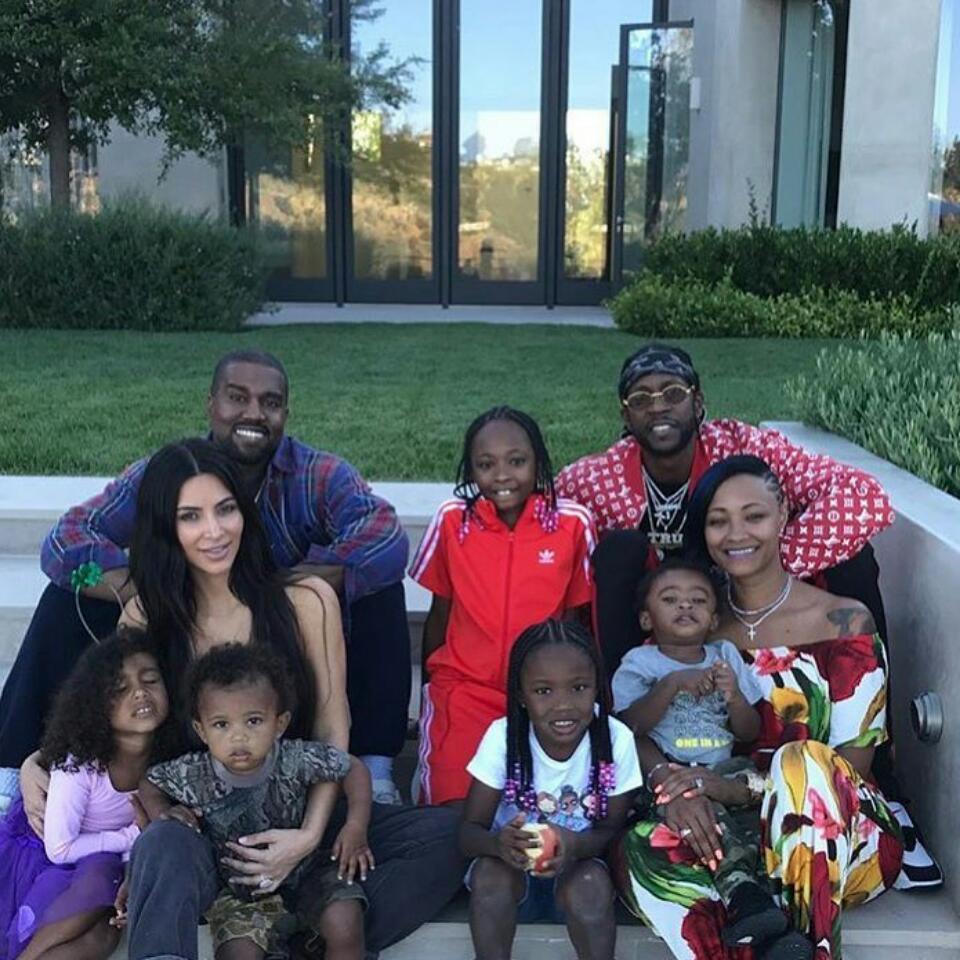 Kim Kardashian And Kanye West Fun Family Photo Alongside 2Chainz