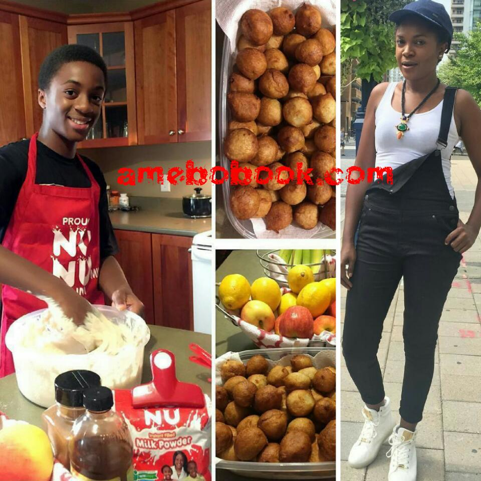 Omoni Oboli Has Been Accused Of Feminizing Her Son After He Was Pictured Frying Puff Puff