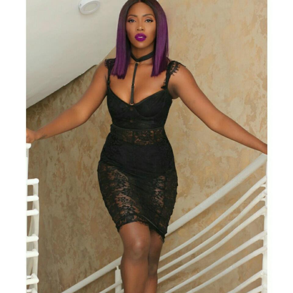 Singer Tiwa Savage Sheer Lace