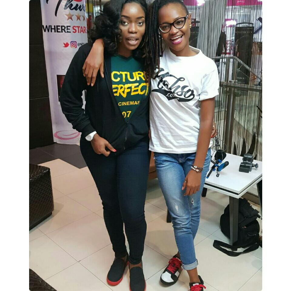 Bisola Aiyeola And Marvis Nkpornwi Were Pictured Together At The Cinema