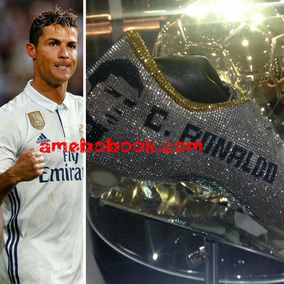 Cristiano Ronaldo Hired Nigerian Designer Tokunbo Daniel To Make Him Three Diamond-Encrusted Boots