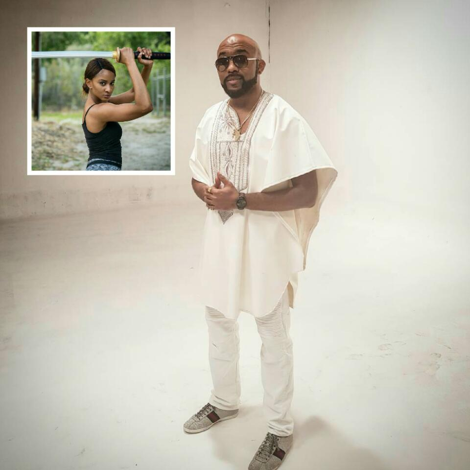 Banky W Gushes Over Adesua Etomi After Seeing Her Beat Guys Up On Set