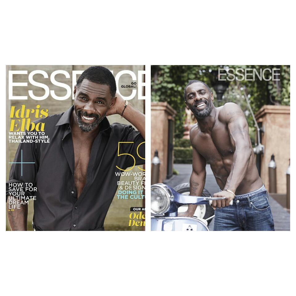 Idris Elba Covers Essence Magazine August Issue