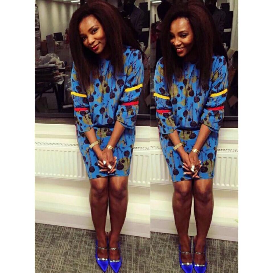 Genevieve Nnaji In Malone Souliers Minismall Dress