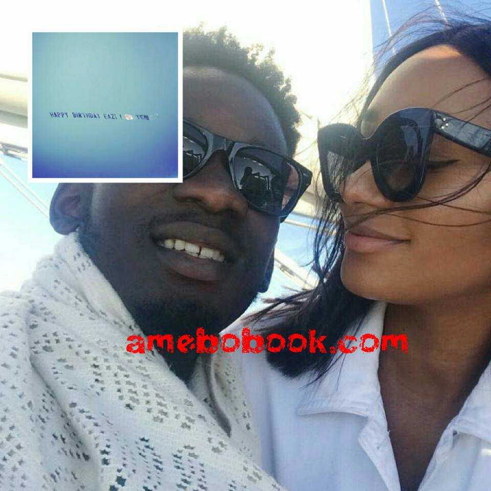 Temi Otedola Celebrated Her Boyfriend Mr Eazi On His Birthday By Hiring An Aeroplane Featuring A Sweet Banner