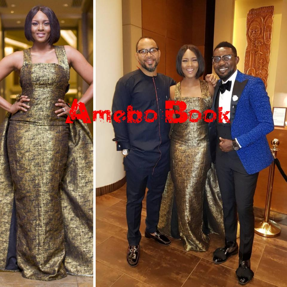 GMAA2017 Osas Ighodaro Pictured Alongside Ramsey Nouah And AY