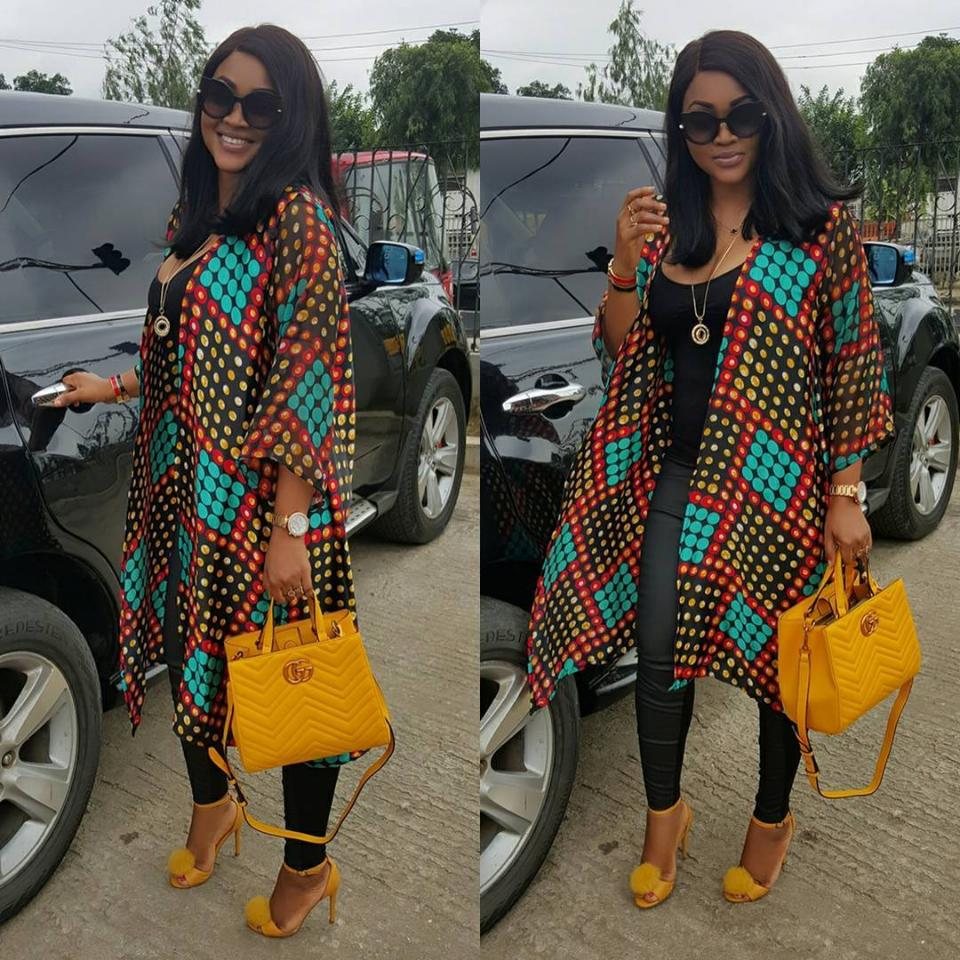 Mercy Aigbe Steps Out Looking Gorgeous In Leggings And Camisole