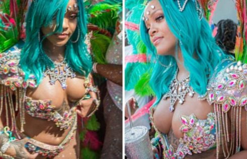 Rihanna Shows Off Her Thick Body In Revealing Bejeweled Bikini In Annual Crop Over Festival