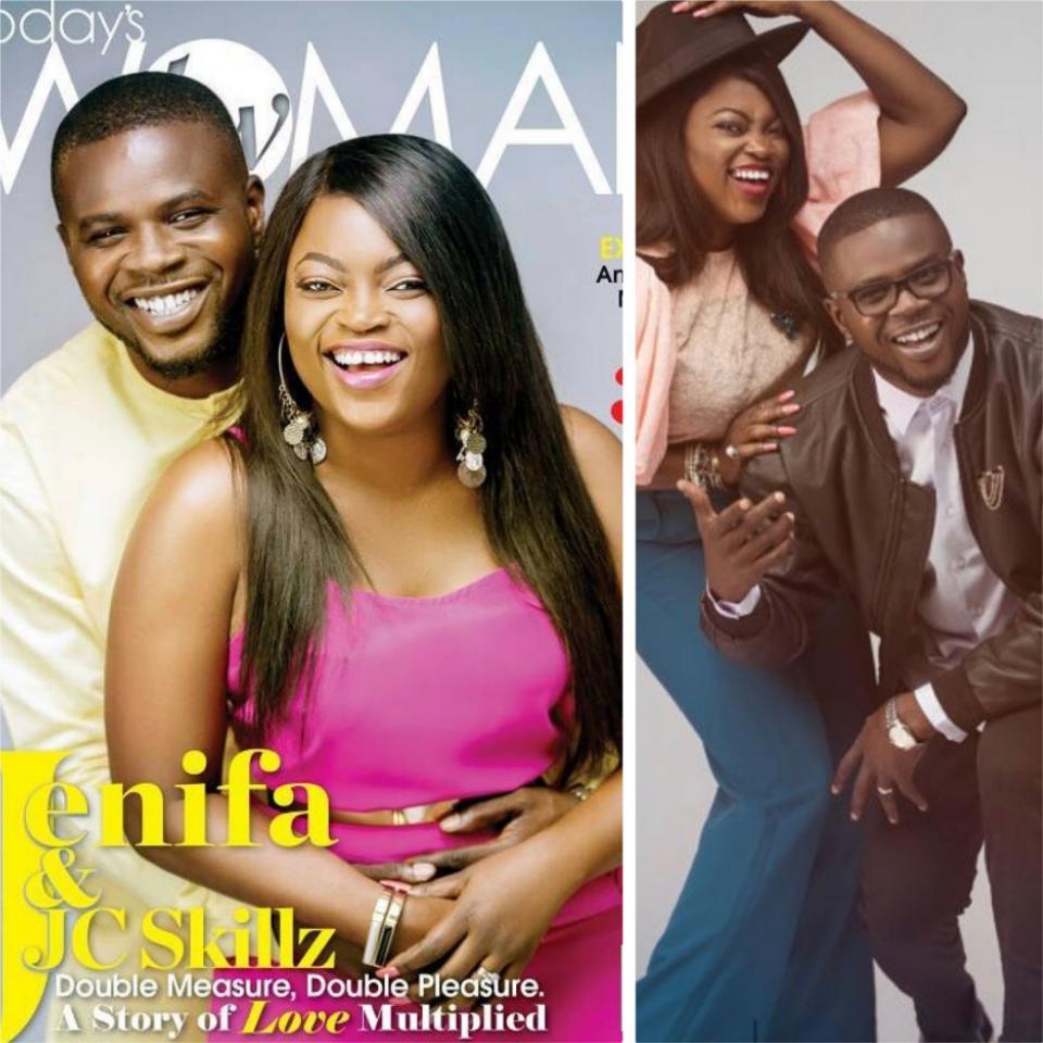 JJC Skillz And Funke Akindele Cover Latest Edition Of TW Magazine