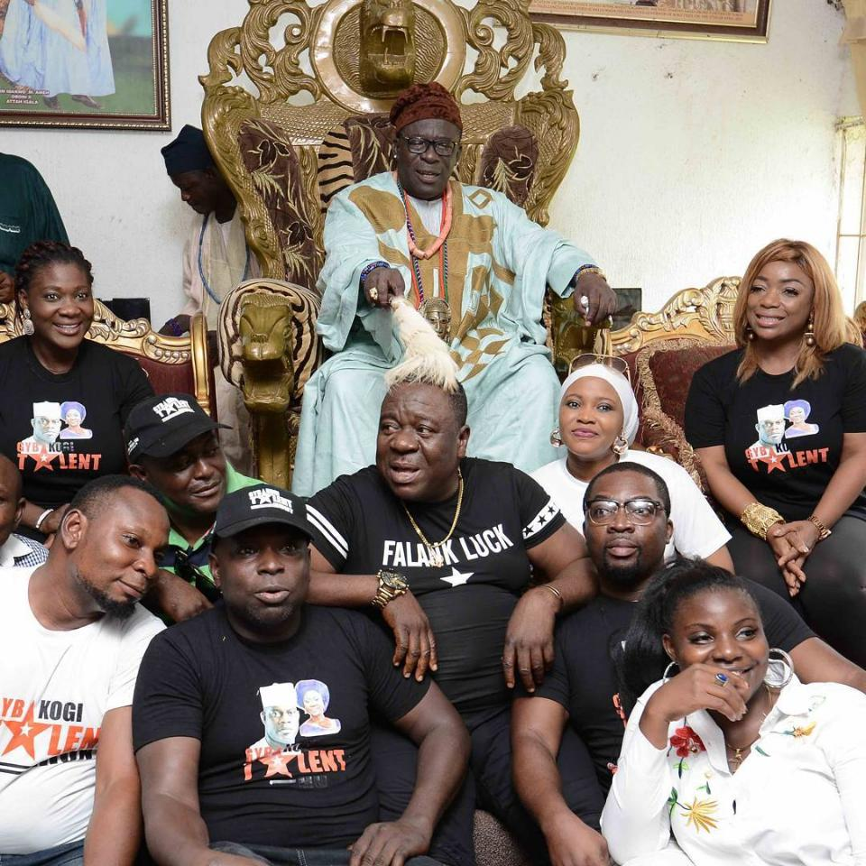 Mercy Johnson And Mr Ibu At The Palace Of The Atta Of Igalaland