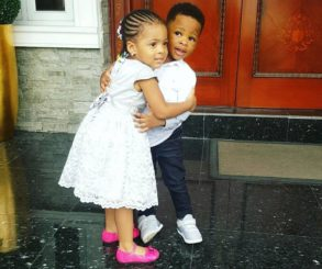 Flavour's Daughter And Joseph Yobo's Son Pictured In Loving Embrace