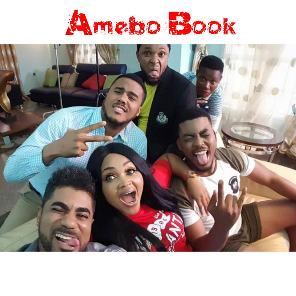 Mercy Aigbe Pictured On Set With Thin Tall Tony And James Gardiner