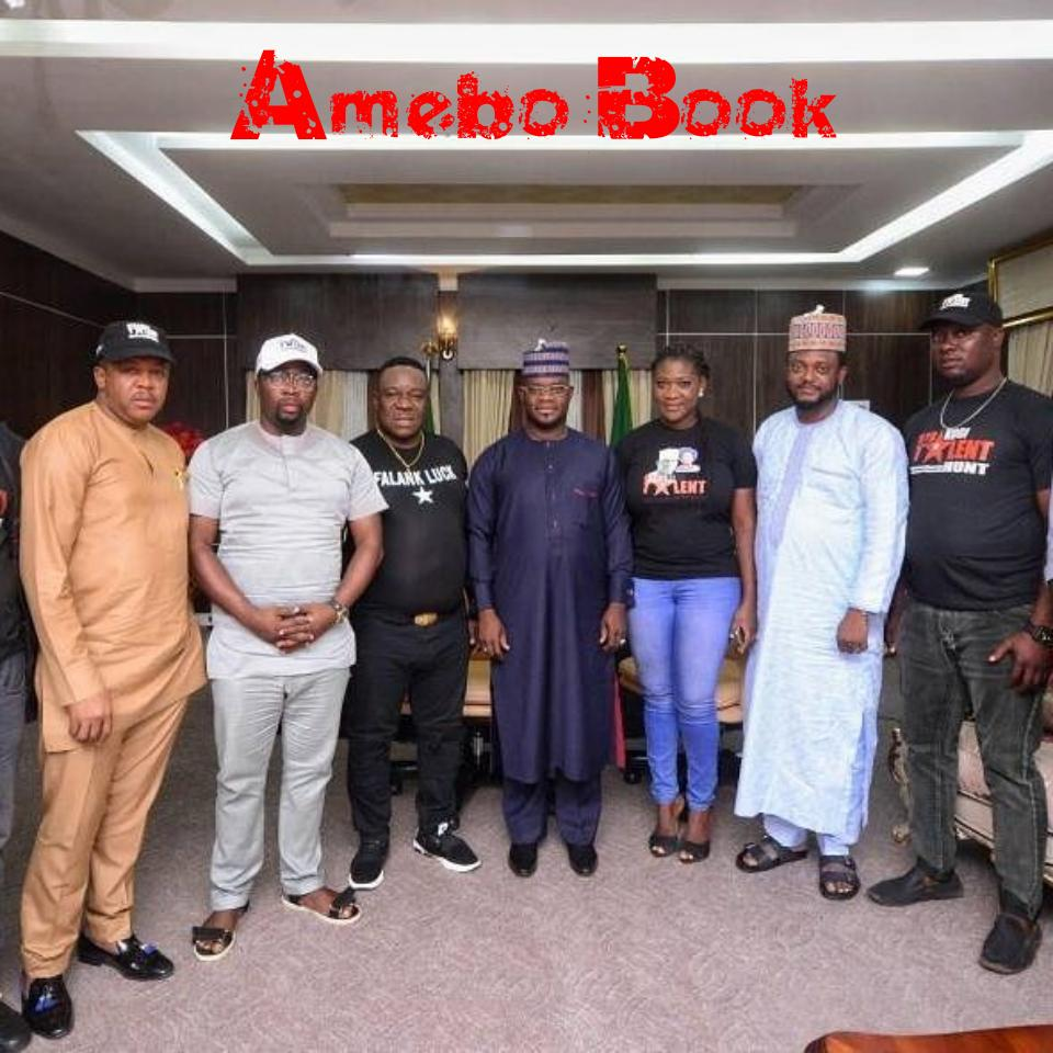 Mercy Johnson Alongside Mr Ibu And Francis Duru Met With Governor Yahaya Bello